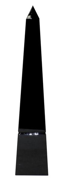 APL610 Black Crystal Groove Base Obelisk (Pack of 2) by Dessau Home