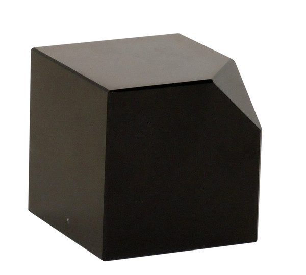 APL611 Black Crystal Cut Corner Cube (Pack of 2) by Dessau Home