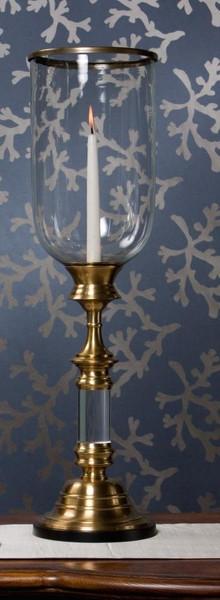 BC405 Antique Brass Hurricane With Lucite Stem by Dessau Home