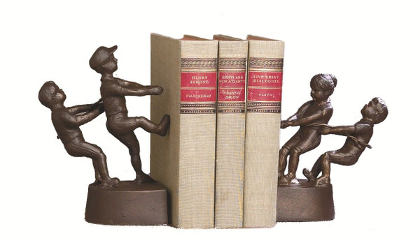 HC357 Tug Of War Bookends Bronze Iron ( Pair ) by Dessau Home