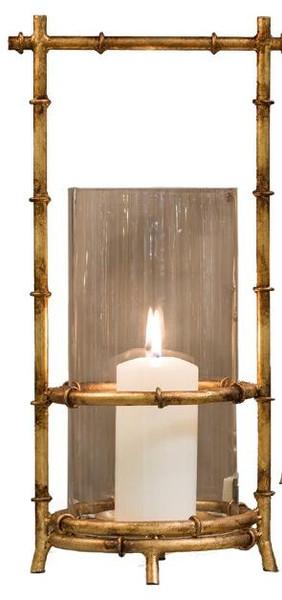 HC638 Antique Gold Bamboo Hurricane by Dessau Home