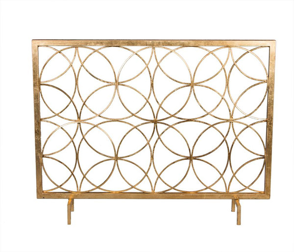 HC654 Antique Gold Circles Firescreen by Dessau Home