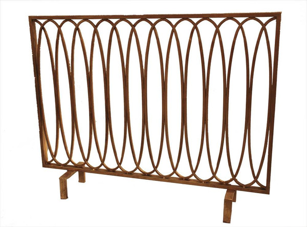 HC670 Antique Gold Oval Loop Firescreen by Dessau Home