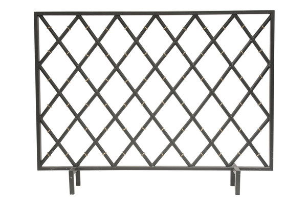 HC692 Black Bamboo Iron Firescreen by Dessau Home