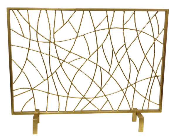 HC705 Gold Twig Iron Firescreen by Dessau Home