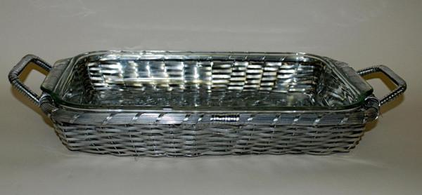 U4200 Woven Aluminum Rectangular Pyrex Baker (Pack of 4) by Dessau Home