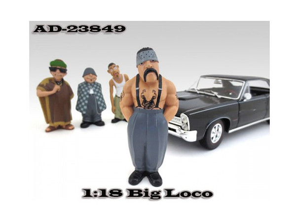 """Big Loco """"Homies"""" Figure For 1:18 Diecast Model Cars By American Diorama (Pack Of 3) 23849"""