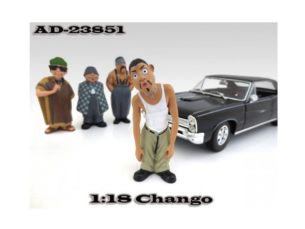 """Chango """"Homies"""" Figurine For 1:18 Scale Diecast Model Cars By American Diorama (Pack Of 3) 23851"""