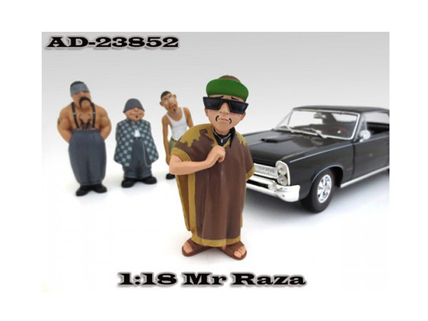 """Mr. Raza """"Homies"""" Figurine For 1:18 Scale Diecast Model Cars By American Diorama (Pack Of 3) 23852"""