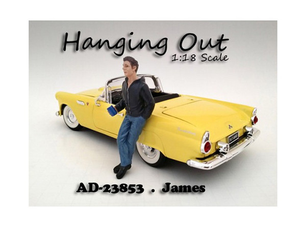 """""""Hanging Out"""" James Figure For 1:18 Scale Models By American Diorama (Pack Of 3) 23853"""
