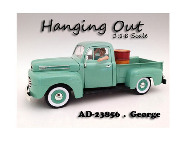"""""""Hanging Out"""" George Figure For 1:18 Scale Models By American Diorama (Pack Of 3) 23856"""