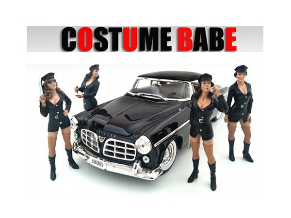 """""""Costume Babes"""" 4 Piece Figure Set For 1:18 Scale Models by American Diorama 23869-23870-23871-23872"""