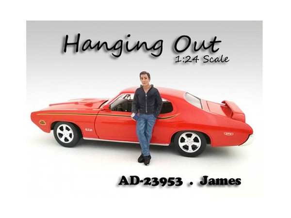 """""""Hanging Out"""" James Figurine / Figure For 1:24 Scale Models By American Diorama (Pack Of 3) 23953"""