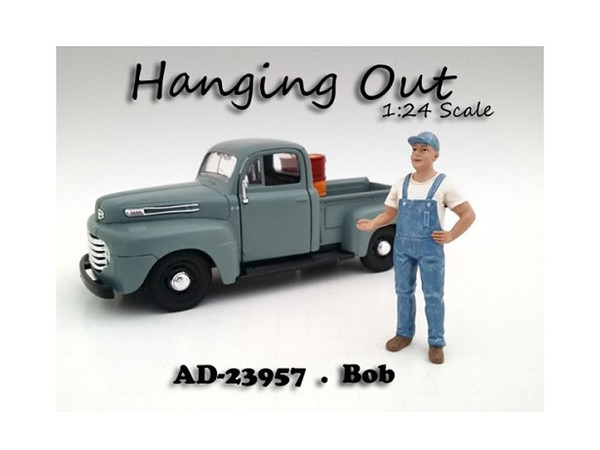 """""""Hanging Out"""" Bob Figure For 1:24 Scale Models By American Diorama (Pack Of 3) 23957"""