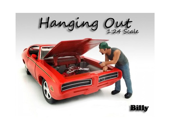 """""""Hanging Out"""" Billy Figure For 1:24 Scale Models By American Diorama (Pack Of 3) 23958"""