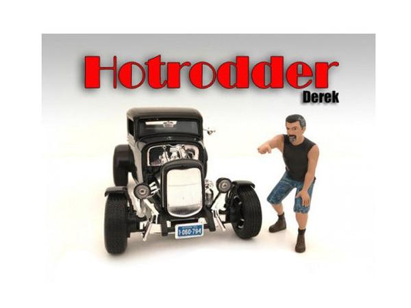 """""""Hotrodders"""" Derek Figure For 1:18 Scale Models By American Diorama (Pack Of 3) 24007"""