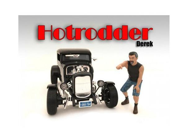 """""""Hotrodders"""" Derek Figure For 1:24 Scale Models By American Diorama (Pack Of 3) 24027"""