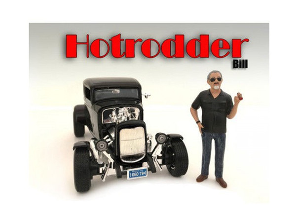 """""""Hotrodders"""" Bill Figure For 1:24 Scale Models By American Diorama (Pack Of 3) 24030"""