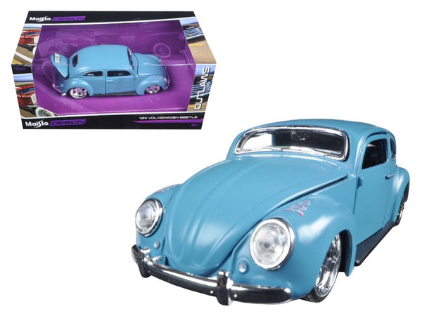 "Volkswagen Beetle Blue ""Outlaws"" 1/24 Diecast Model Car By Maisto (Pack Of 2) 31023BL"