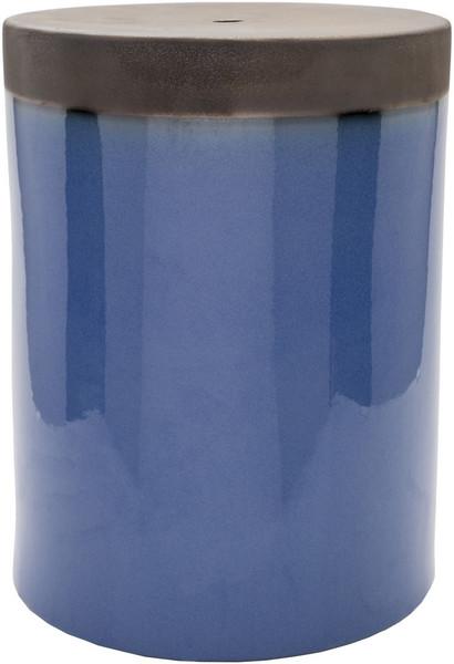 Blue & Brown Stool - 12.8 X 12.8 X 18.1 PLS004-121218