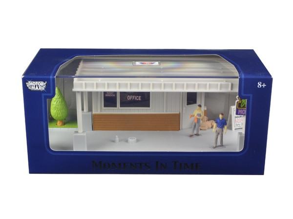 """Big 8 Motel Scene"" Diorama Put Your Own Car Inside 1/43 by Motormax 73863N"