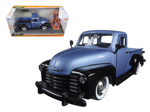 "1953 Chevrolet Pickup Truck Blue/Black ""Just Trucks"" with Extra Wheels 1/24 Diecast Model by Jada 97330"