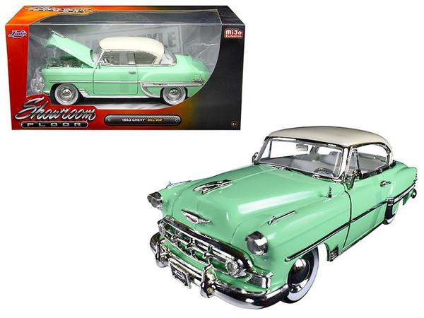"1953 Chevrolet Bel Air Light Green ""Showroom Floor"" 1/24 Diecast Model Car by Jada 98884"