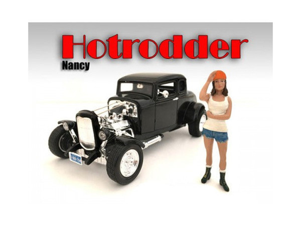 """""""Hotrodders"""" Nancy Figure For 1:18 Scale Models By American Diorama (Pack Of 3) AD24008"""