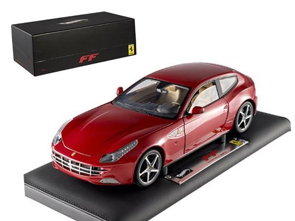 Super Elite Ferrari FF 1/18 Diecast Car Model by Hotwheels X5490