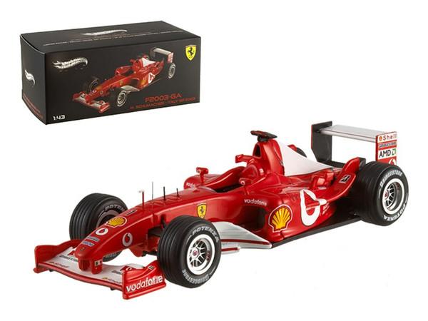 Ferrari F2003 Michael Schumacher Italy GP 2003 Elite Edition 1/43 Diecast Model Car by Hotwheels X5514