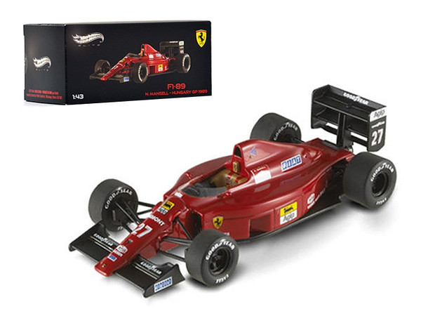 Ferrari F1-89 #27 Nigel Mansell Hungary GP 1989 Elite Edition 1/43 Diecast Model Car by Hotwheels X5517