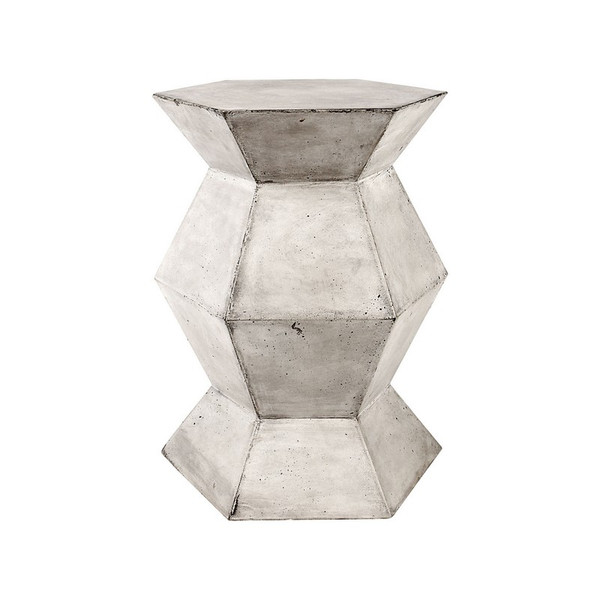 Dimond Home Flanery Accent Table In Polished Concrete 157-016