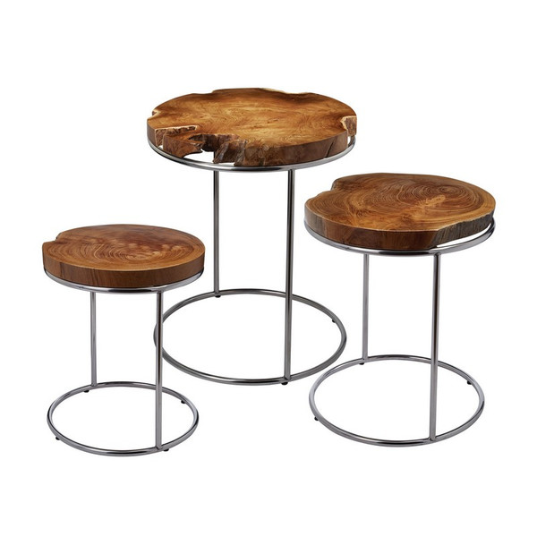 Dimond Home Natural Teak Stacking Tables 162-001