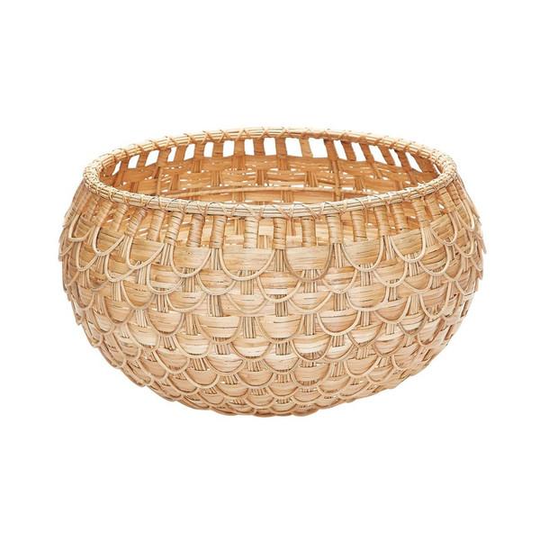Dimond Home Medium Natural Fish Scale Basket 466046