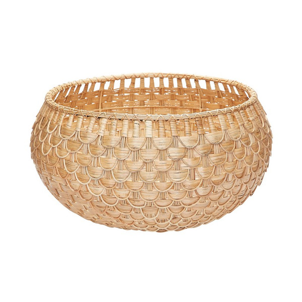 Dimond Home Large Natural Fish Scale Basket 466047