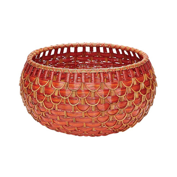 Dimond Home Medium Fish Scale Basket In Red And Orange 466052