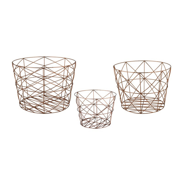 Dimond Home Nested Geometric Copper Baskets 8990-023/S3