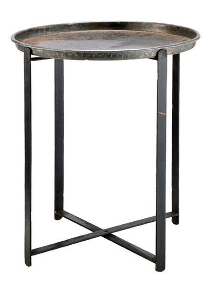 00468 DK Living Iron Tray On Stand
