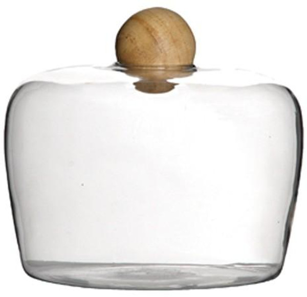 090149 DK Living Natural Glass Type 4 Bottle With Wood Ball Cap