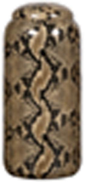090295 DK Living Ceramic Jar Snake Skin Design Tall
