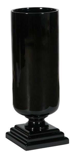 090331 DK Living Black C-Small Resin Lacqueruer Cylinder Vase