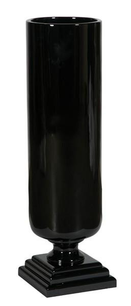 090332 DK Living Black C-Medium Resin Lacqueruer Cylinder Vase