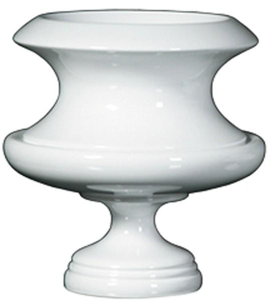 090339 DK Living White C-Large Wood Lacquer French Planter