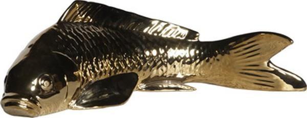 090390 DK Living Gold C-Small Ceramic Koi Fish