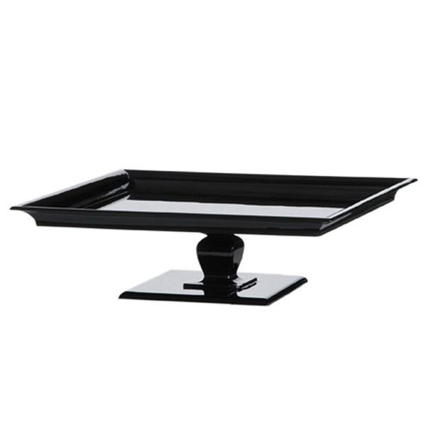090478 DK Living Black Wood Lacquer Tray Xtra Large