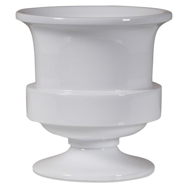 090520 DK Living White Small Lacquer Band Planter