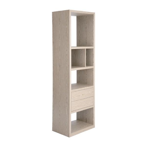 090523 DK Living Gray Wood Display Cabinet