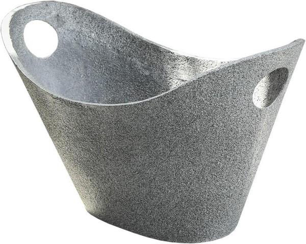 280013 DK Living Gray Fiberstone Deco Basket Large