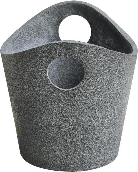 280014 DK Living Gray Fiberstone Deco Basket Small