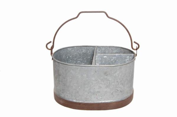 29510 DK Living Ribbed Coal Basket